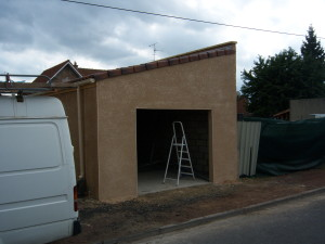 photographie toiture garage 1 pente